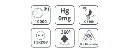 Bombilla LED De Color G45